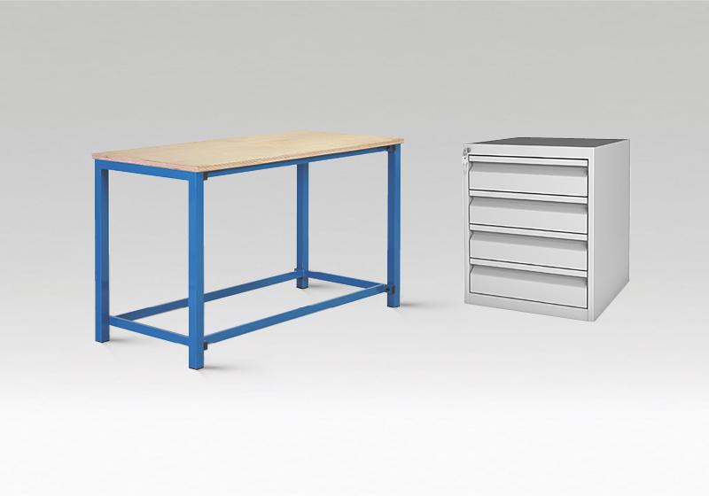 Pracovní stoly, skříně