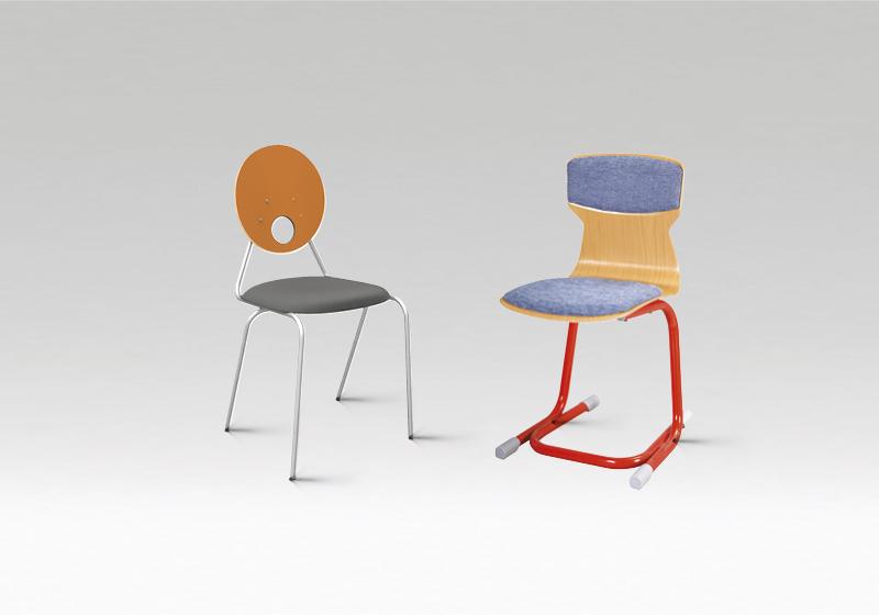 Židle na koleje a ubytovny