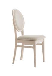 Dřevěná židle, čalouněná