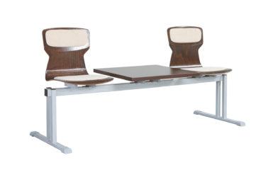 Soliwood dvojmístná řadová židle (lavička) se stolkem