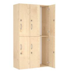 6× dvířka, šatní skříň s bezpečnostním zámkem