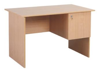 Psací stůl pro učitele, laminovaný, ostré hrany