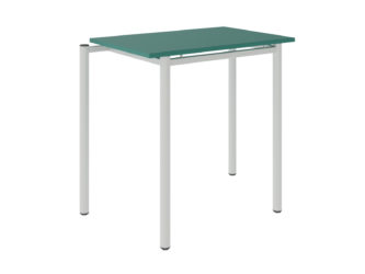 žákovská lavice, laminovaná deska stolu s nezaoblenými rohy