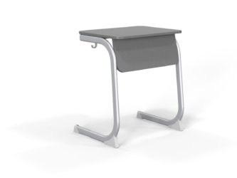 deska stolu z laminované dřevotřísky, zaoblená