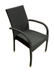 Polyratanová židle s područkami