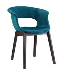 Židle s dřevěnou konstrukcí
