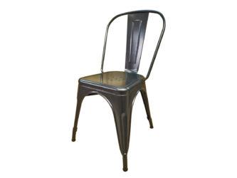 Židle s kovovou konstrukcí