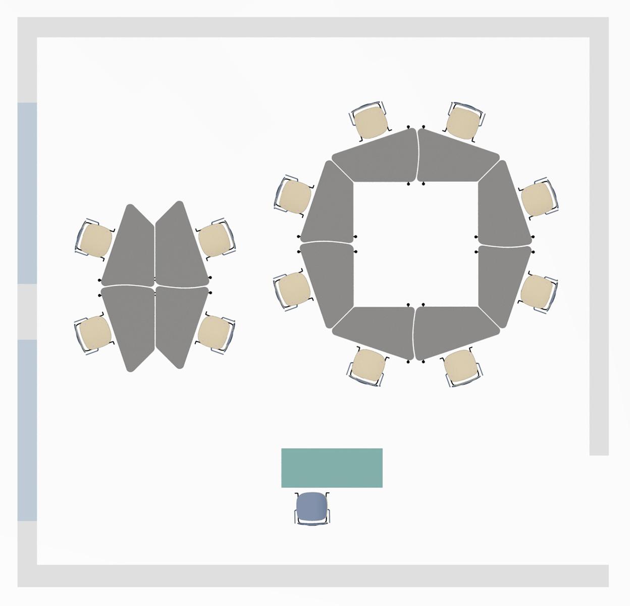 Kruhové opěradlo, dekoritový sedák a opěradlo