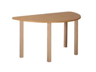 Pohádkový půlkruhový stůl s dřevěnou konstrukcí