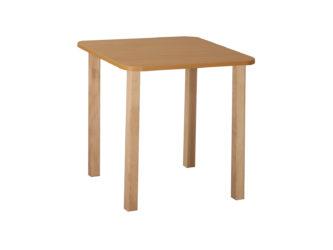 Pohádkový čtvercový stůl s dřevěnou konstrukcí