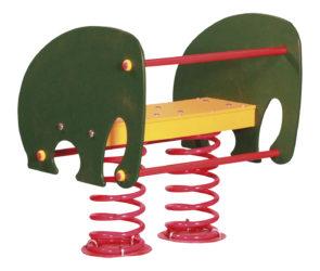 Slon – dvojmístná pružinová houpačka