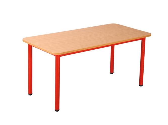 Pohádkový obdélníkový stůl s kovovou konstrukcí