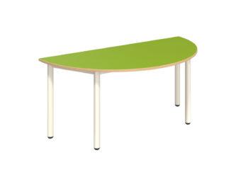 Pohádkový půlkruhový stůl s dekoritovým povrchem