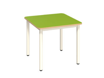 Pohádkový čtvercový stůl s dekoritovým povrchem