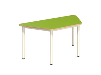 Pohádkový lichoběžníkový stůl s dekoritovým povrchem