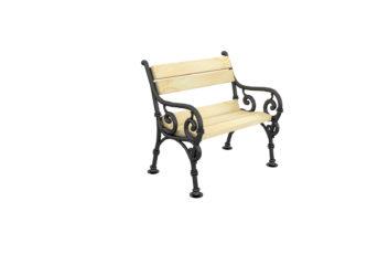 Hargita jednomístná lavička s opěradlem