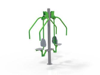 Dvojitý přístroj pro posilování hrudníku