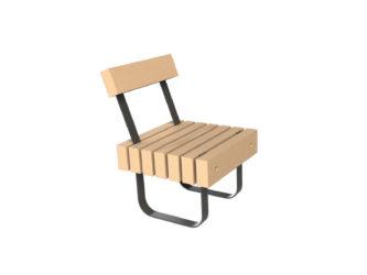 SimpliCity jednomístná lavička s opěradlem