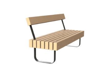 SimpliCity trojmístná lavička s opěradlem