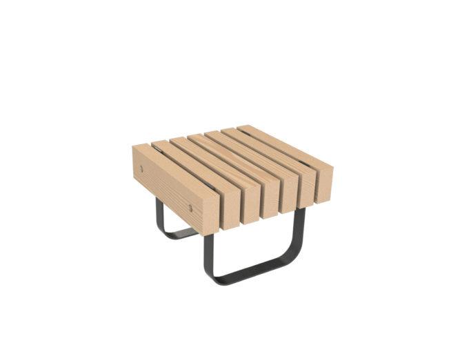 SimpliCity jednomístná lavička bez opěradla