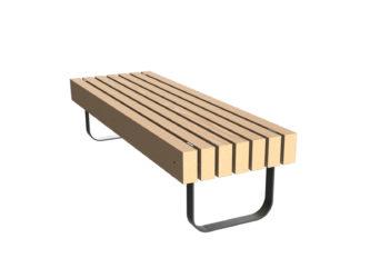 SimpliCity trojmístná lavička bez opěradla
