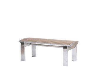 Central dvoumístná lavička bez opěradla