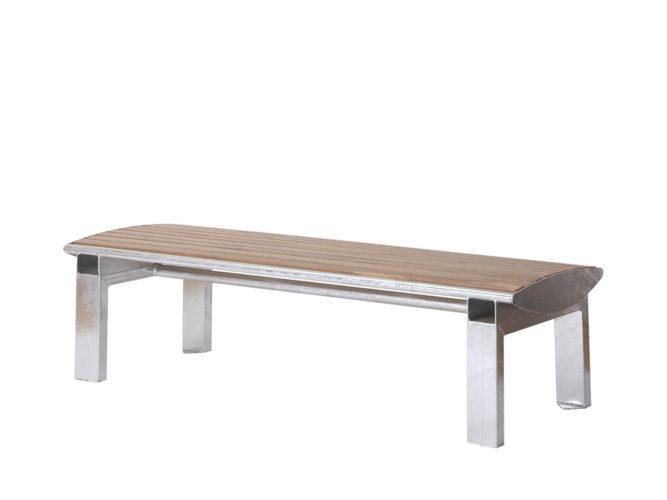 Central venkovní trojmístná lavička bez opěradla