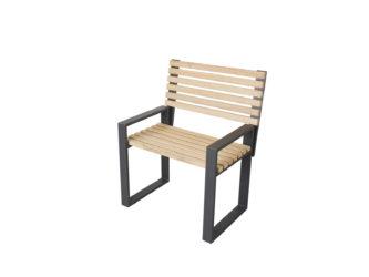 Cube jednomístná lavička s opěradlem