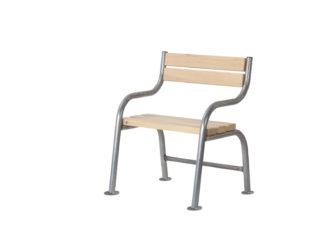 London jednomístná lavička s opěradlem