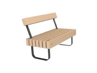 SimpliCity dvoumístná lavička s opěradlem