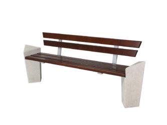 Stone venkovní trojmístná lavička s opěradlem