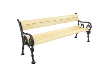 Hargita trojmístná lavička s opěradlem