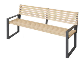 Cube trojmístná lavička s opěradlem a područkami