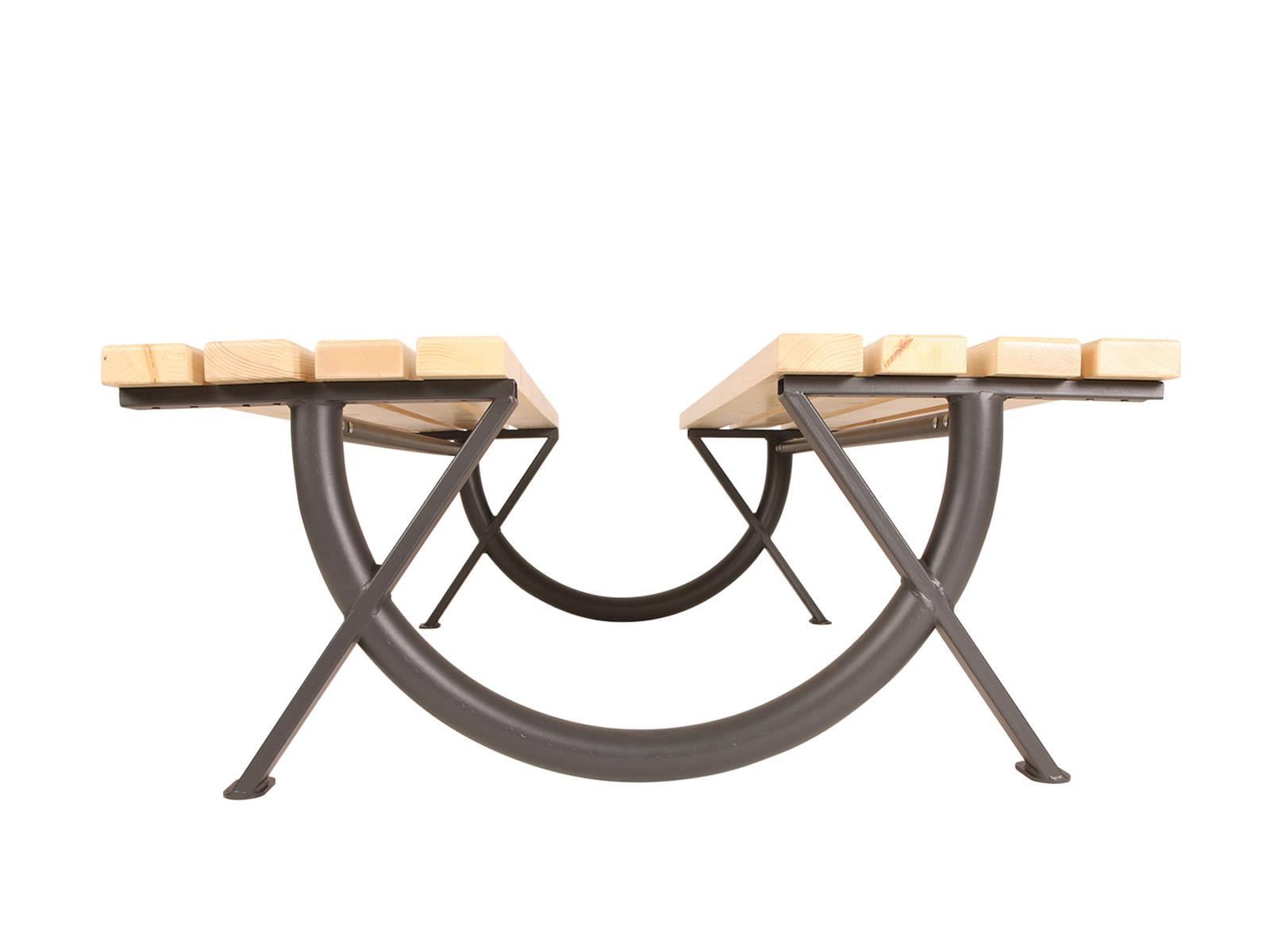 Ring venkovní dvojitá lavička trojmístná bez opěradla
