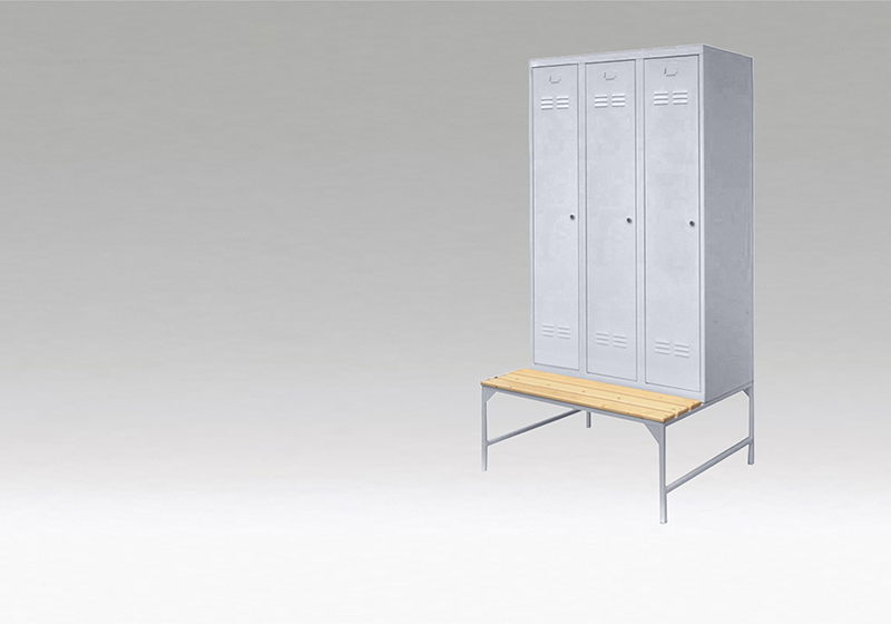 Šatní skříňky s lavičkami