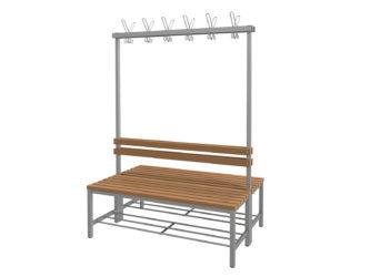 WPC latě, 120 cm široký sedák