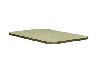 dekoritová deska stolu s nezaoblenými rohy, 120 × 50 cm
