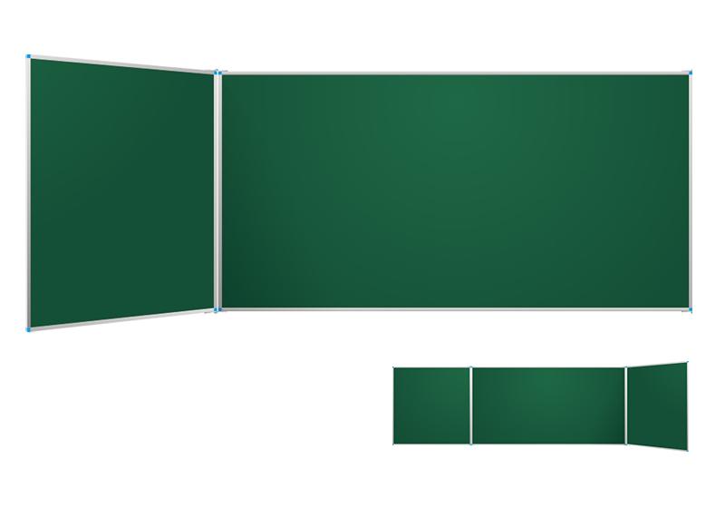 Klasické zelené nástěnné tabule s postranními křídly