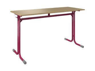 laminovaná deska stolu se zaoblenými hranami