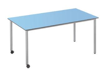 160 × 73 cm obdélníkový stůl, na kolečkách