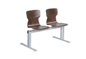 Soliwood dvojmístná řadová židle (lavička)