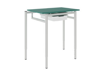 žákovský stůl, se zásuvkou, dekoritová deska s ostrými rohy