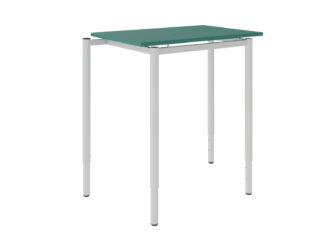 žákovský stůl, deska z laminované dřevotřísky s ostrými rohy