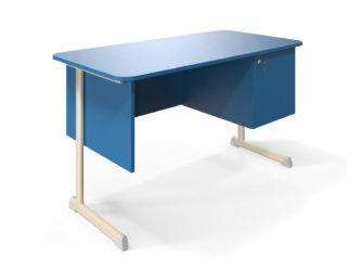 s postranními skříňkami, deska stolu z laminované dřevotřísky