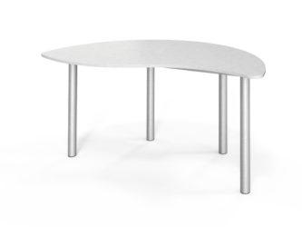půlkruhový stůl, nastavitelný, laminovaný